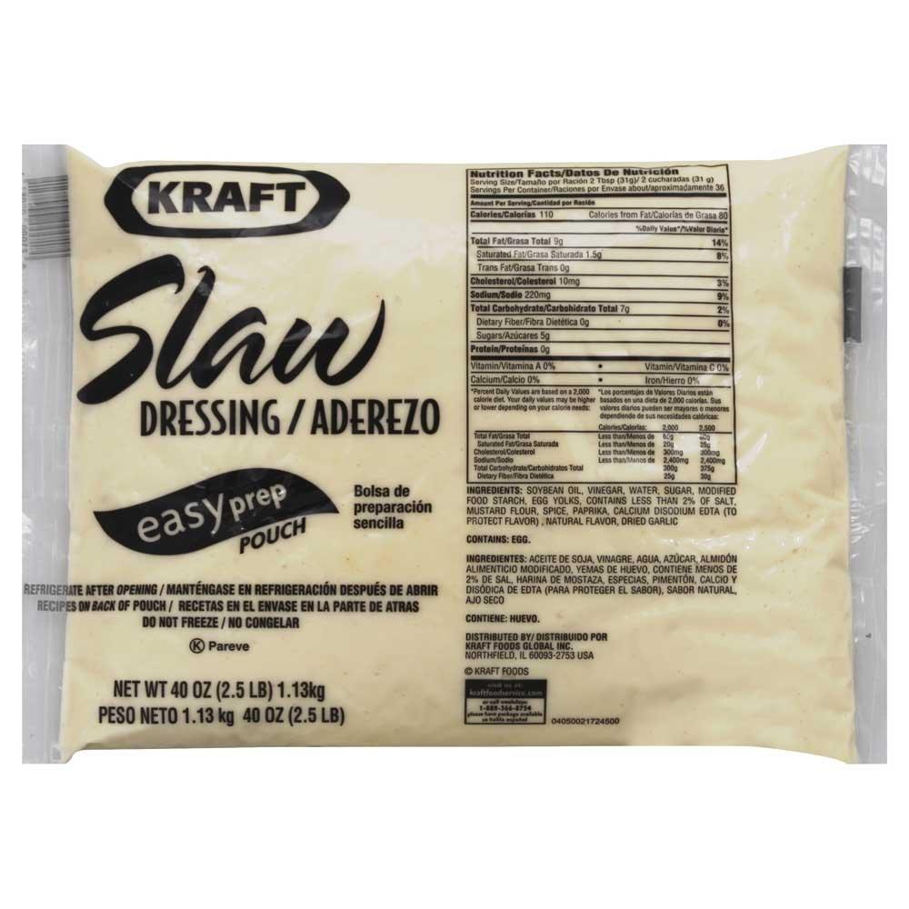 Kraft Slaw Vestidor, easyprep Pocuh, 40 Ounce – -12 por Caso ...