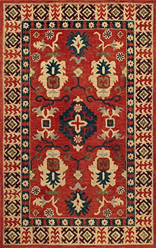 Southwestern/Lodge 8'x11' Rectangle Area Rug in Brick color from Spartel Collection Brick Southwestern Rug