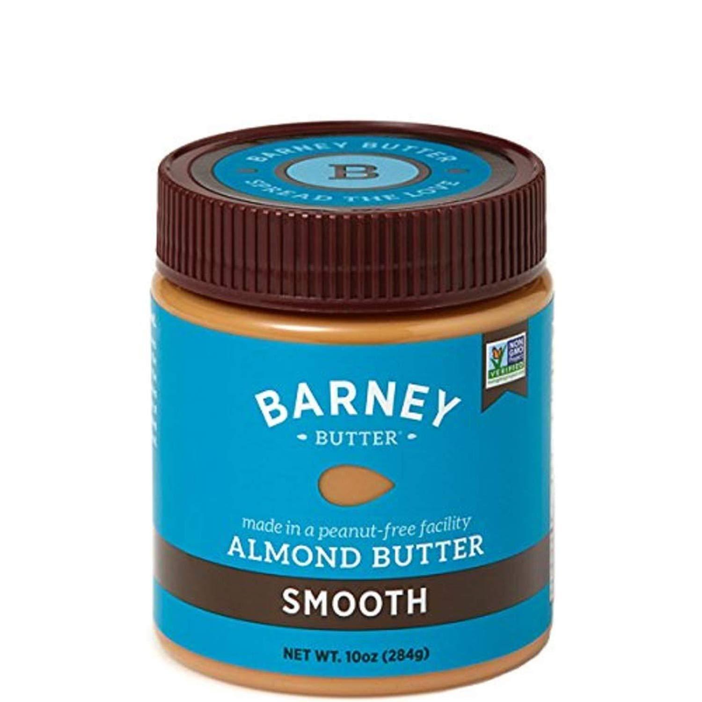 BARNEY Almond Butter, Smooth, Paleo Friendly, KETO, Non-GMO, Skin-Free, 10 Ounce