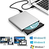 Blingco External CD Drive, Slim External CD-RW Drive USB CD Burner Portable DVD-R Combo Player Writer for Laptop Notebook PC Desktop Computer