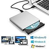 Blingco Externes CD Laufwerk, schlankes externes CD-RW-Laufwerk Tragbarer DVD-R Combo-Brenner-Player Writer für Laptop Notebook PC Desktop Computer