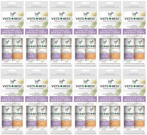 Vet's Best Ear Relief Wash & Dry 24pk (12 x 2pk) by Vet's Best