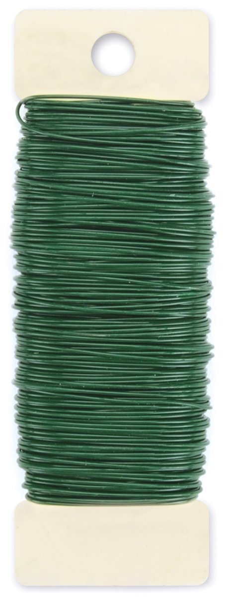 Self-Sealing With Green Paddle Wire 22-Gauge Inludes 12 Pieces of 18 Inch 18 Guage Wire. Premium Quality 1//2 Inch Floral Tape Dark Green and Ligh Green