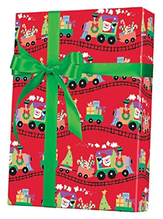 amazon co jp santa express gift wrap rolled 24 x 15 holiday