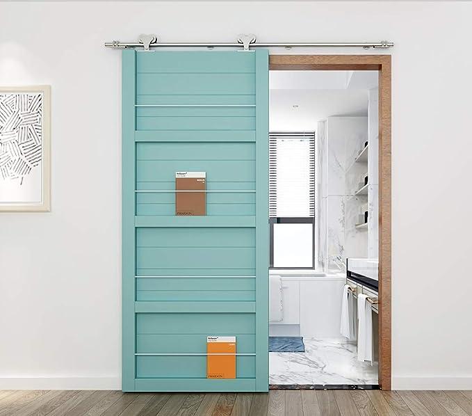 AiHom 1.52m De acero inoxidable puertas acero puerta corrediza de granero Hardware: Amazon.es: Bricolaje y herramientas