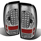 99 to 05 f250 headlights - 97-03 Ford F150 F-150 Pickup Truck Styleside Model Chrome Clear LED Tail Lights Brake Lamps Pair