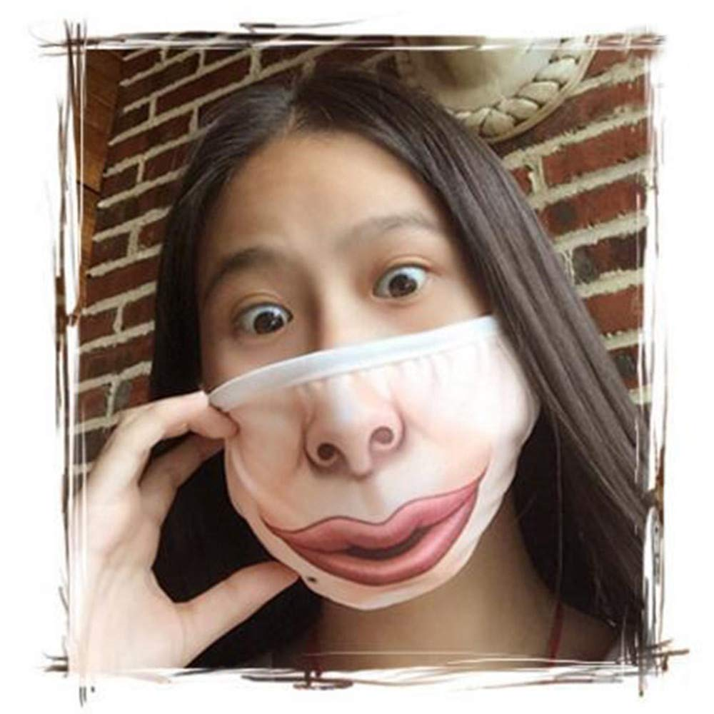 Romance8 Cartoon Expression Mask Cotton Double Layer Funny Creative Warm Dust Mask
