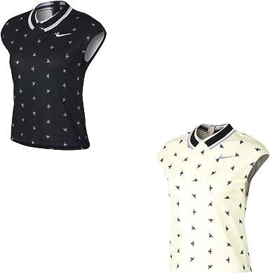 Nike Court Dri Fit Print T Shirt de Tennis pour Femme Noir
