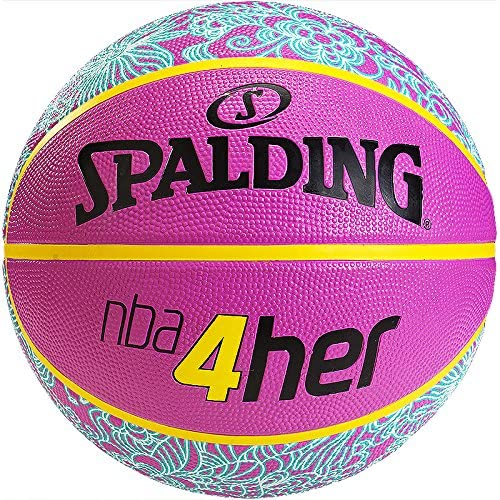 Spalding NBA 4 Her - Balón de Baloncesto Rosa y Azul Talla:n/a ...