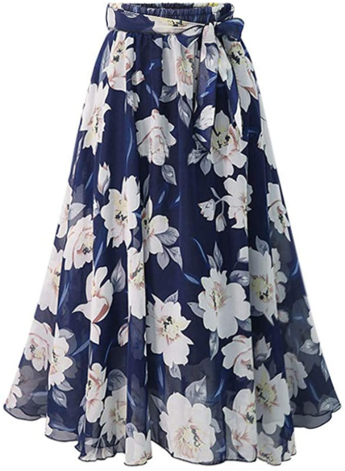 Falda Lazo Mujer Fiesta Elegante Vintage Tallas Grandes ...