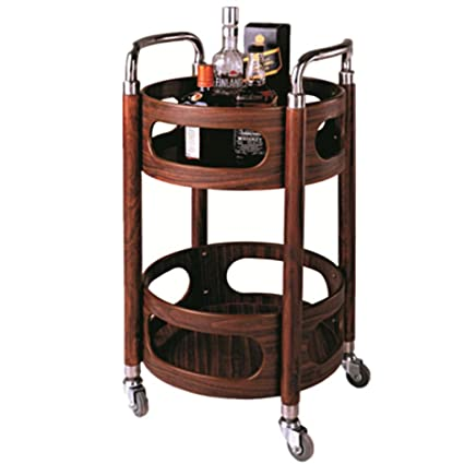 DS Estante Rack Trolley - Carrito para vinos Redondo Carrito para Autos Carrito de té móvil