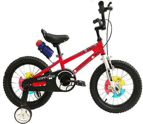BH BAOHONG - Bicicleta Infantil con Ruedas para Bicicleta de 18 Pulgadas (Azul, Amarillo, Rosa, Verde, Rojo): Amazon.es: Deportes y aire libre