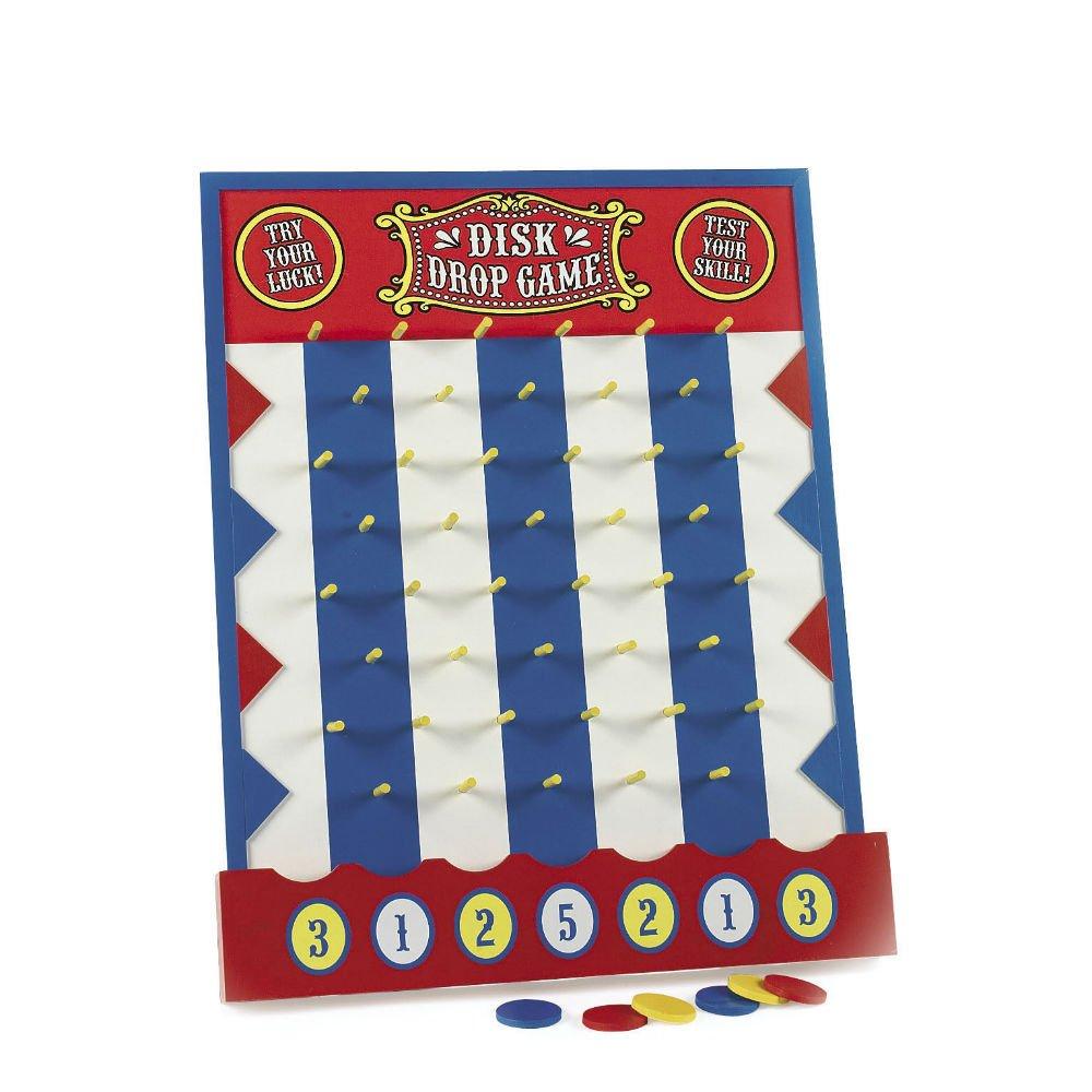 plinko style wood disk drop game BIRTHDAY PARTY GAME carnival circus theme FUN