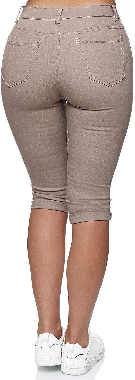 Egomaxx Damas Jeans Capri Talla Grande 3 4 Pantalones Cortos Bermuda Estirados Mujer Ropa