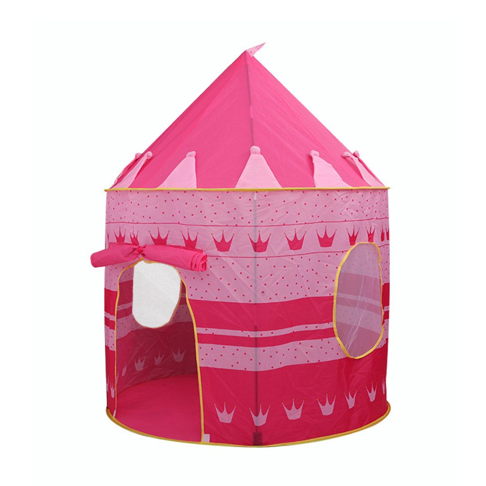 Hippih Indoor/Outdoor Little Princess Castle Play Tent for Girls, Promotes Early Learning, Social Bonding and Imaginative Play (Pink)