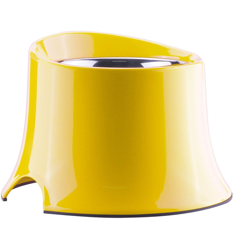 Super Design Comedero Elevado con Cuenco INOX extra/íble y Soporte de melamina Duradera Cuenco Elevado para Perros alimentador Elevado para Comer Relajado