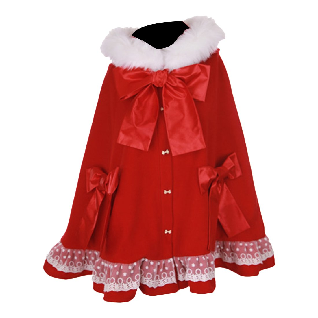 Partiss Womens Sweet Girls Lolita Cute Hooded Cape Coat