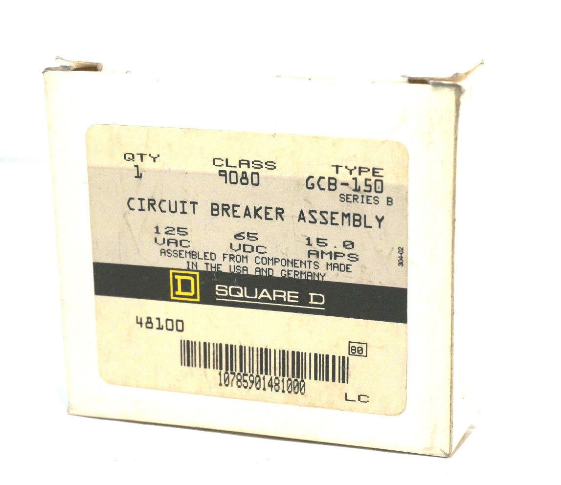 NEW SQUARE D 9080-GCB-150 CIRCUIT BREAKER 9080GCB150