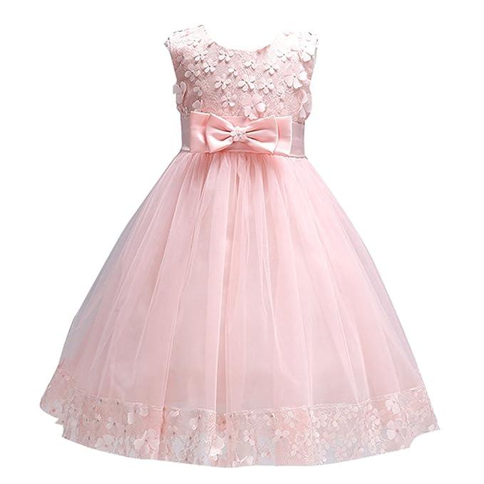 Amazon.com: KISSOURBABY 1-10T Girls Elegant Ball Gown Lace Dress ...
