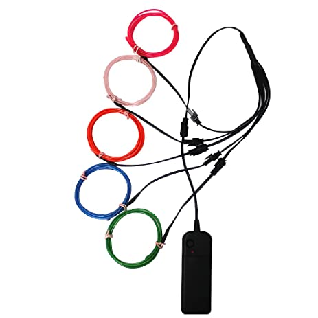 Amazon.com: Ourbest El Wire Lights Neon Light Electroluminescent ...