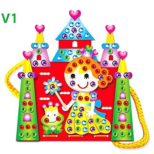 HuntGold Cartoon DIY Handgenähter Beutel EVA Ausbildung Spielzeug Schloss