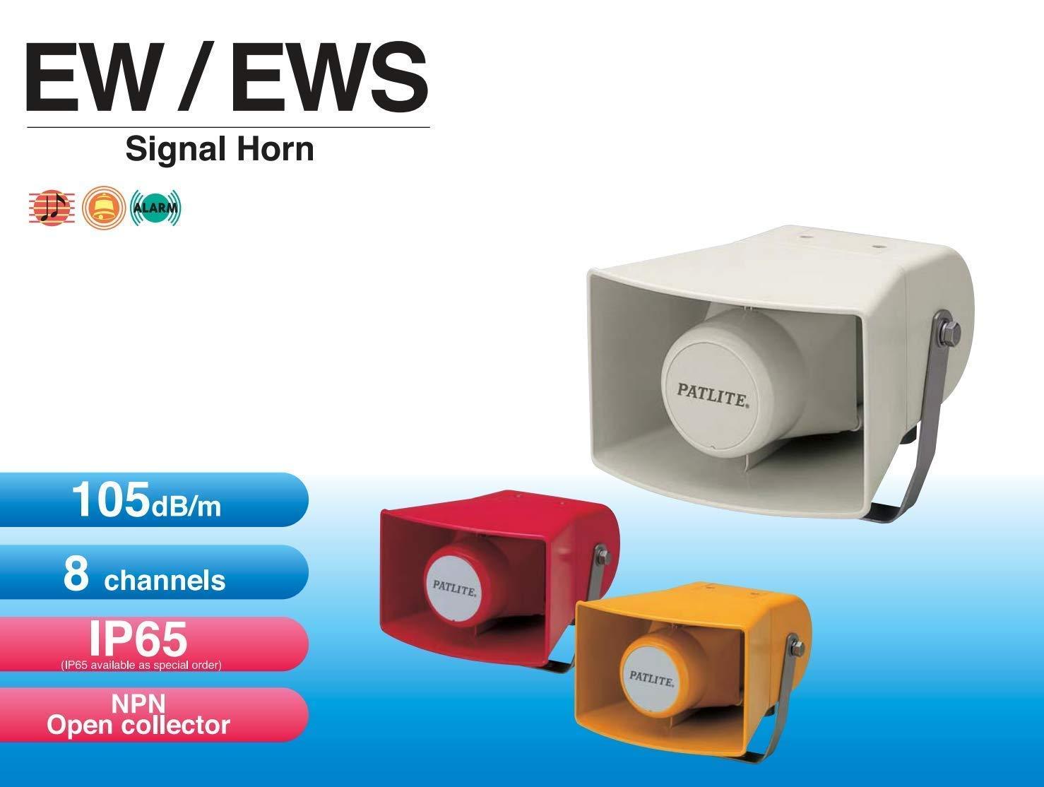 PATLITE EWS EWS-100KA-Y Horn Speaker Alarm Sounder Hooter Siren 8 x Built-in Alarm Tones by Patlite (Image #2)