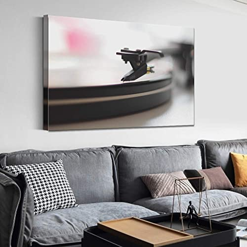 SIGNFORD Canvas Wall Art Retro Record Player Canvas Painting Wall Decor