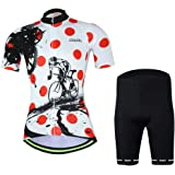 1c37610fe88 Womens Cycling Jersey Aogda Short Sleeve 3D Silicon Padded Girls Bib Shorts  Bicycle Bike Cycle Clothing