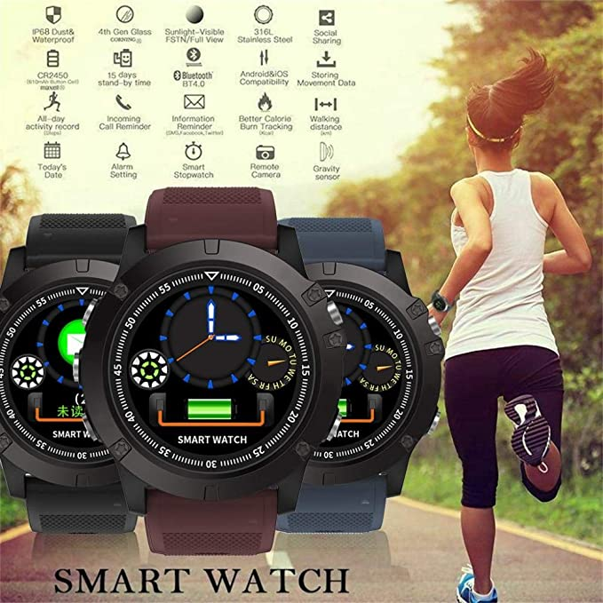 Amazon.com: Spovan IP68 Bluetooth 4.0 Smart Watch Feminino ...