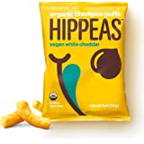 Hippeas Organic Chickpea Puffs, Vegan White Cheddar (Pack of 24)