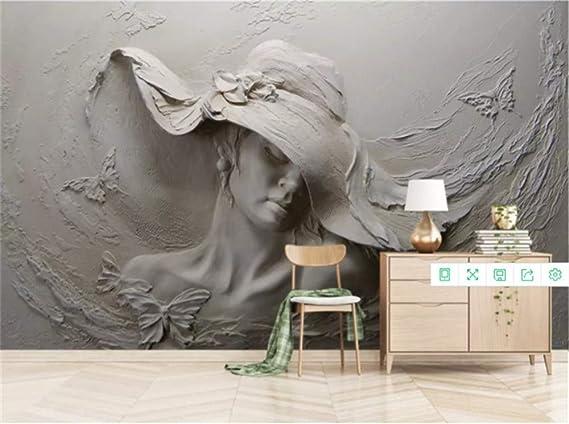 DXBH 3D mural grande escultura de arcilla abstracta hermosa sala ...