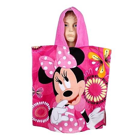 Toalla tipo poncho con capucha de Disney Minnie Mouse Poncho para la playa