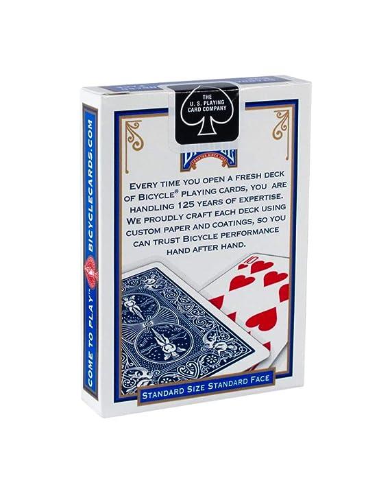 Bicycle Poker - Baraja de cartas, tamaño estándar, colores ...