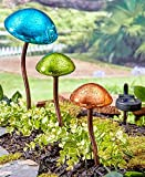 The Lakeside Collection Set of 3 Mushroom Garden Lights