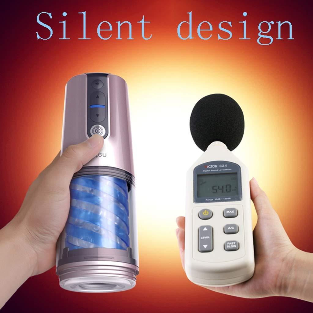 FOO-CHENGREN Movimiento silencioso del Motor Potente masajeador médico Material Completamente de Silicona Completamente Material automático Adecuado para Hombres (Color : La Plata, Tamaño : 7.8x7.8x22.5cm) 35df44