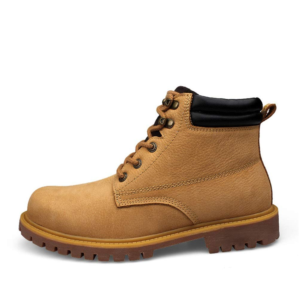 DorisAA Chukka-Stiefel für Herren Ankle Stiefel Mode Retro Komfortable Komfortable Komfortable Rutschfeste Laufsohle Hohe Größe Große Arbeitsschuhe Dschungelstiefel für Jungen (Farbe   Gold, Größe   41 EU)  563b7c