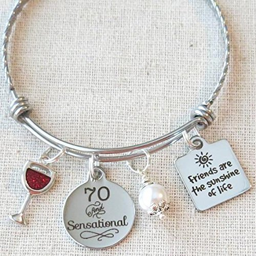 Milestone 70th Birthday Gift For Friend BIRTHDAY Her Friends Are The