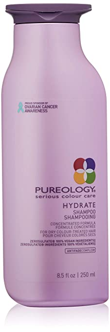 Pureology Hydrate Moisturizing Shampoo | For Medium to Thick Dry, Color Treated Hair |Sulfate-Free | Vegan | 8.5 oz. best shampoo for color-treated hair