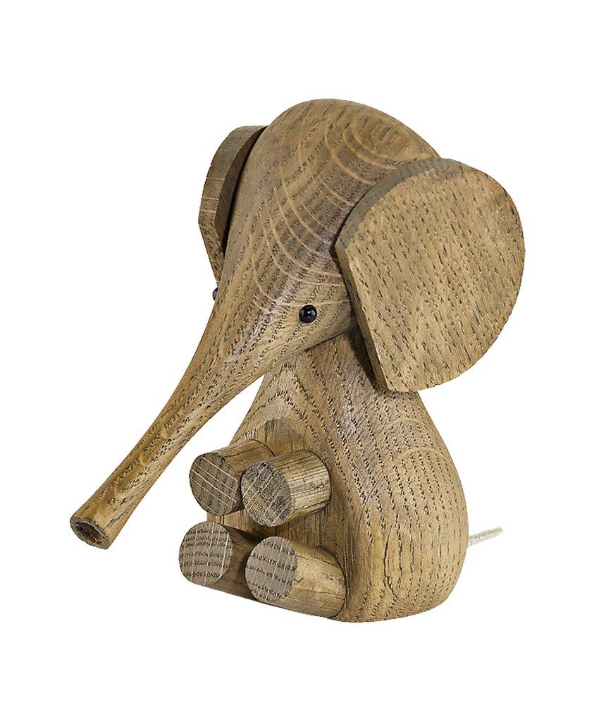 Lucie Kaas Elefant, smoked oak - Höhe 11 cm
