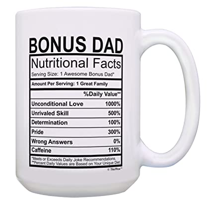 Amazon Stepdad Gifts Bonus Dad Nutritional Facts Cup