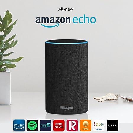 All-new Amazon Echo (2nd generation), Charcoal Fabric