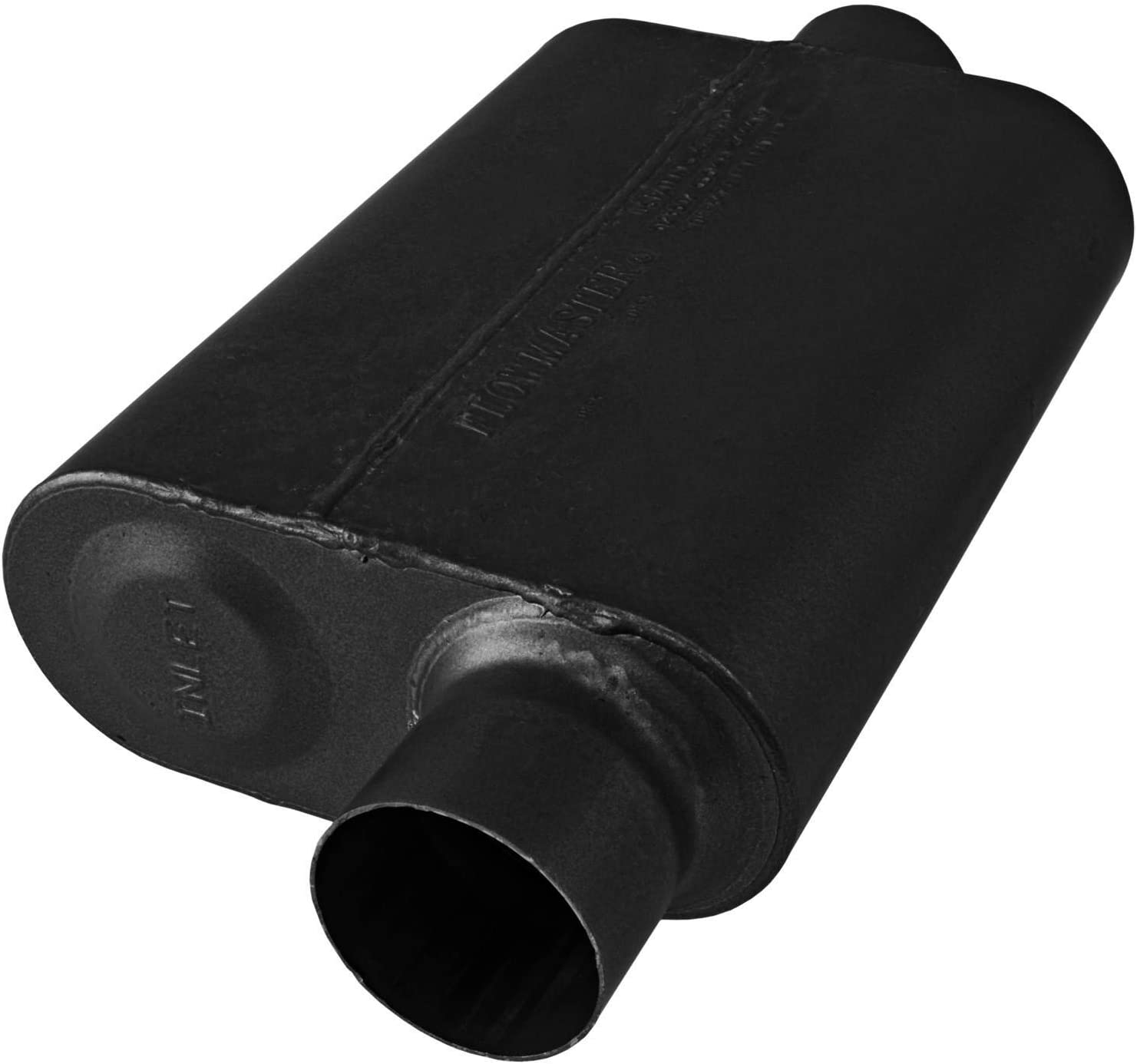 Flowmaster 8043041 40 Series Muffler 409S Aggressive Sound 3.00 Center OUT 3.00 Offset IN
