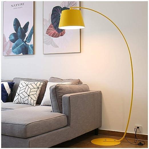 LIHUA Lámpara de pie Sala de Estar Amarillo Estudio Moderno Sofá ...