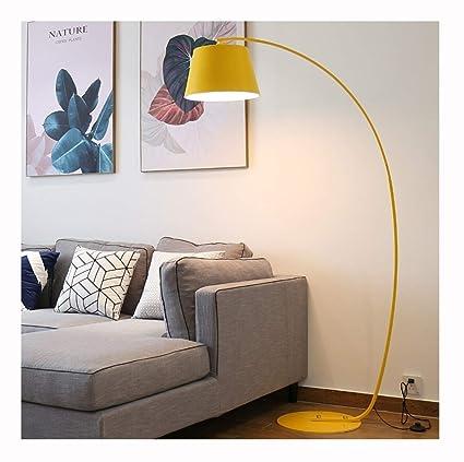 LIHUA Lámpara de pie Sala de Estar Amarillo Estudio Moderno ...