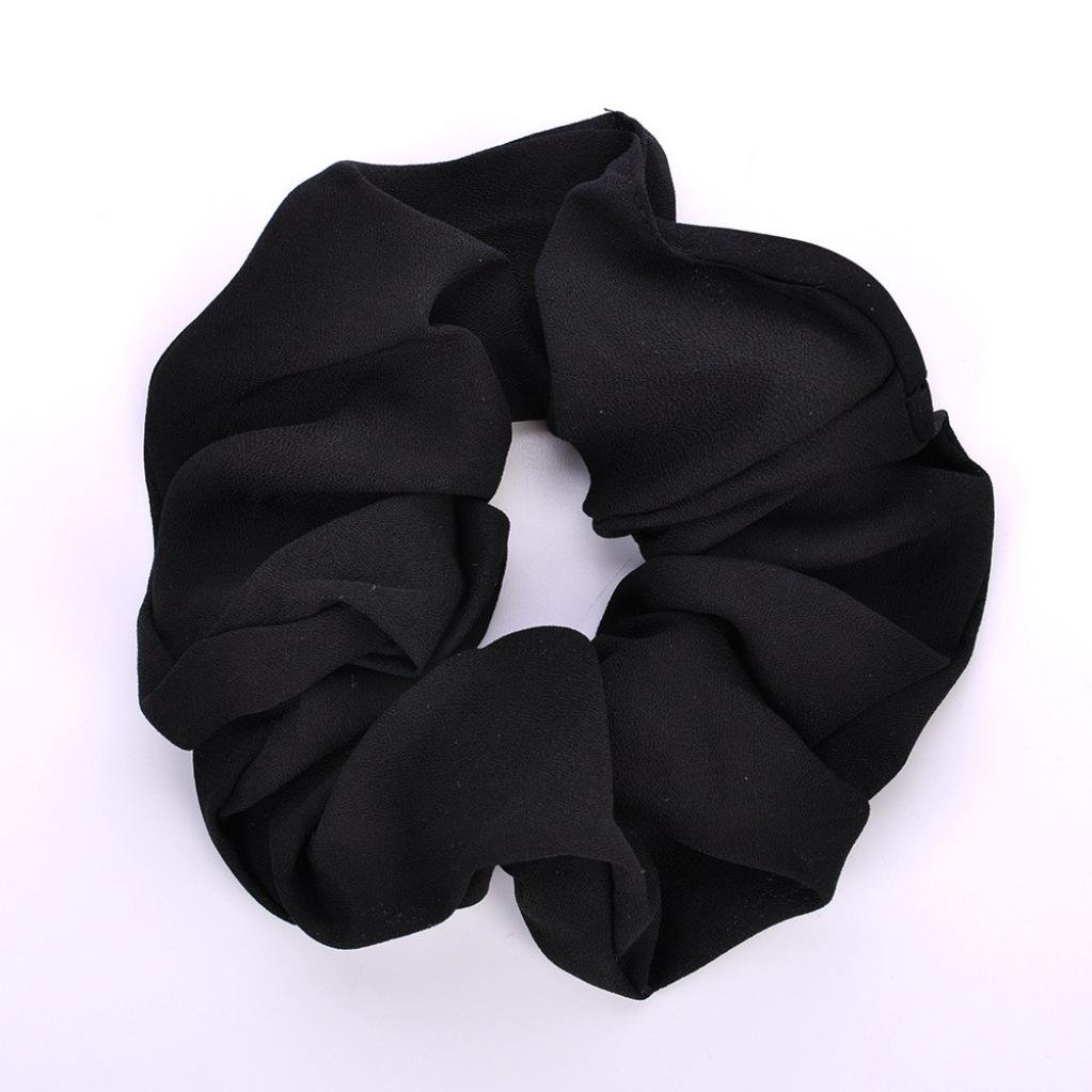 Amazon.com: IKevan Summer Floral Hair Scrunchies Bun Ring Elastic Fashion Sports Dance Scrunchie (Black): Beauty