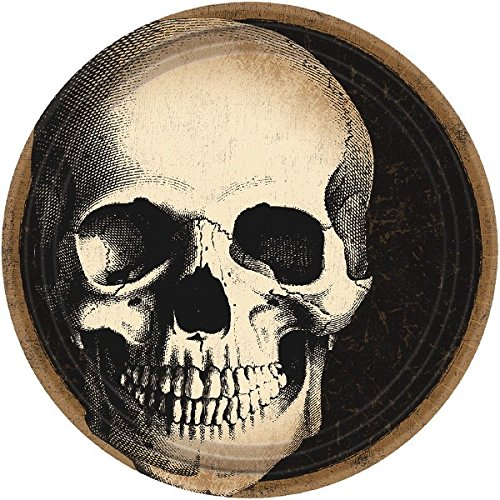 Boneyard Skull Round Plates, 7'' by amscan