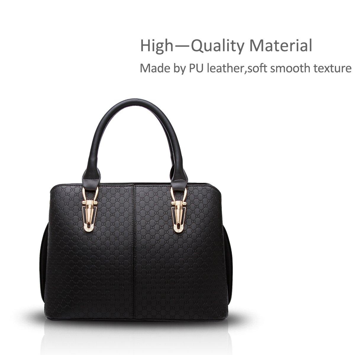 Nicole Doris Fashion Women Handbag Large Bag Retro Handbags Casual Shoulder  Bag Messenger Bag for Women Black  Amazon.co.uk  Shoes   Bags a7839f1d7e