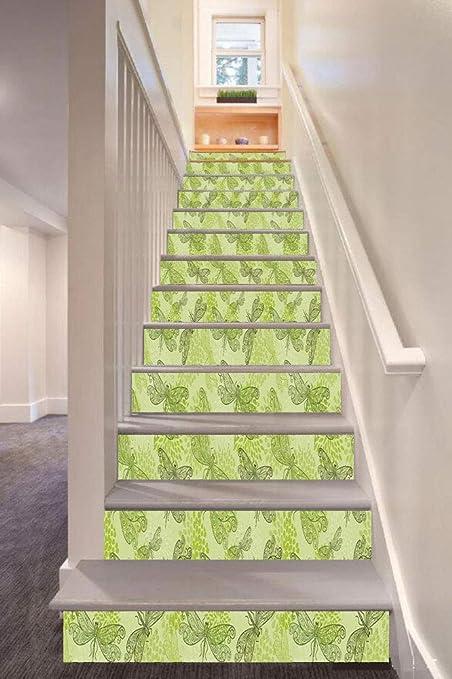 anselc05ls Winter-Dekoration, 3D-Treppenaufkleber, abnehmbare ...