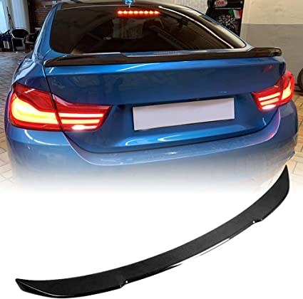 M4V Style AeroBon Real Carbon Fiber Trunk Spoiler for 2014-2019 BMW F36 4-Series Gran Coupe