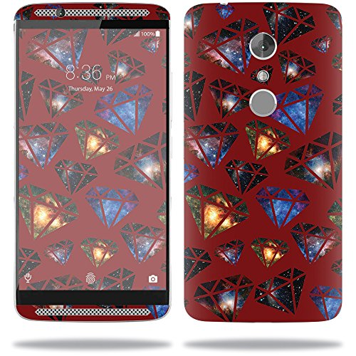 MightySkins Skin Compatible with ZTE Axon 7 - Diamond Galaxy | Protective,  Durable, and Unique Vinyl Decal wrap Cover | Easy to Apply, Remove, and